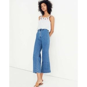 Madewell Emmett Wide-Leg Crop Jeans Rosalie Wash